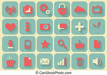 icons set retro
