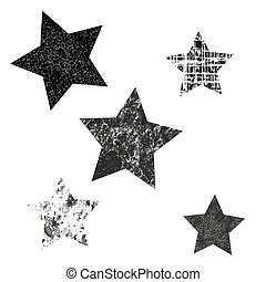 icons., set, vettore, stars., differente, patterns., stelle