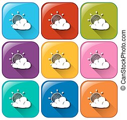 Icons showing a weather forecast