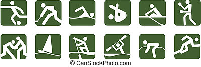 icons Sports vector set eps