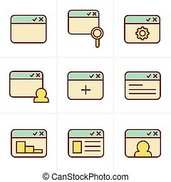 Icons Style browser icon set