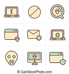 Icons Style  Digital criminal icons set