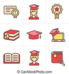 Icons Style Education icons set.