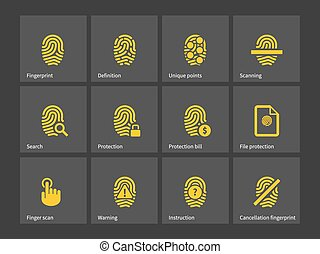 icons., thumbprint