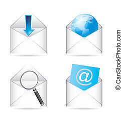 icons vector - communication icons with shadow. vector...