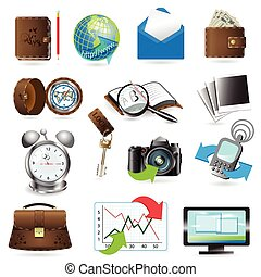 icons - illustration, set from fourteen computer icons on...