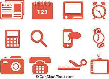 icons., vector, conjunto