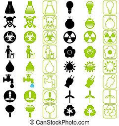 icons:, vector, energiebesparing