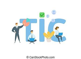 icons., vector, información, white., tic, keywords, aislado...