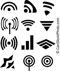 icons WiFi - Set of icons WiFi with the logo of various...