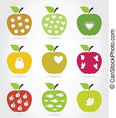 icons3, アップル