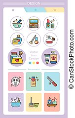 iconset beuty - icon set beuty vector