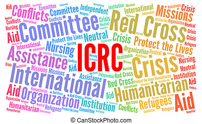 ICRC word cloud illustration