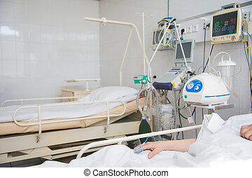 ICU room in a hospital