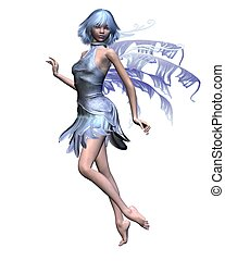 Icy Blue Winter Fairy - 1 - Pretty winter fairy with icy ...