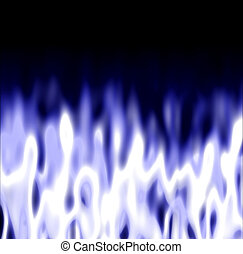 Icy Dark Flames - some icy white / blue fire over a black...