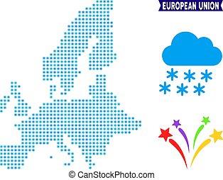 Icy European Union Map