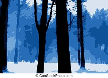 Icy Forest Scene