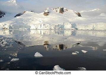 icy view of antarctic