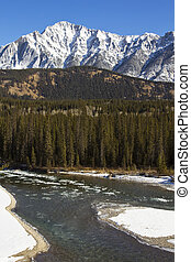 Icy Waters of the Bow River in Banff
