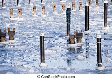 icy winter - sheets of ice in the baltic sea