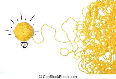 idé, och, nyskapande, begrepp