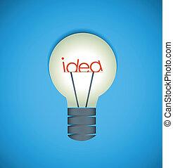 idée, ampoule, lumière