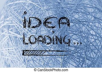 idée, barre, chargement, progrès