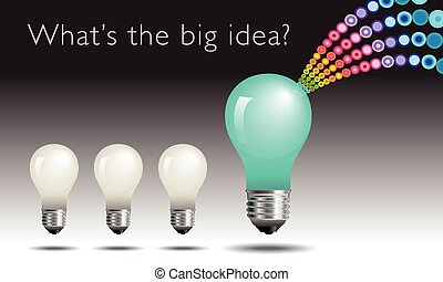idée, concept, lightbulb