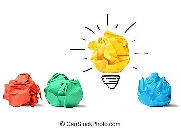 idée, et, innovation, concept