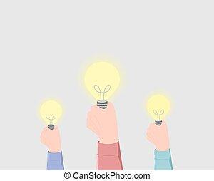 idée, imagination, créativité, concept.