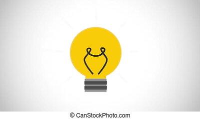 idée, vidéo, conception, icône, animation