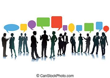 idées, business, échange