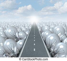 idéia, estrada