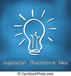 idéia, fundo, conceito