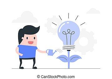 idéia, investir, concept., educação, criativo, idéia