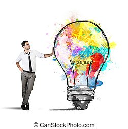 idéia, negócio, criativo