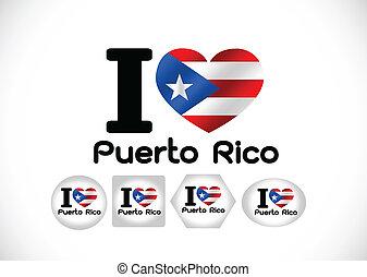 idéia, temas, rico, bandeira, desenho, puerto