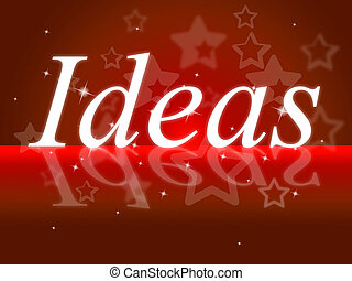 idéias, palavra, mostra, pense, aquilo, e, contemplação