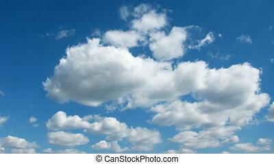 idő, clouds., lapse.