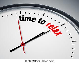 idő, fordíts, kipiheni magát