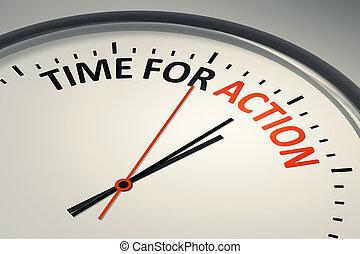 idő, helyett, akció