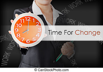 idő, helyett, change.