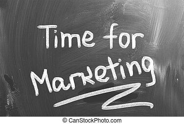 idő, helyett, marketing, fogalom