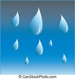 időjárás, eső, ikon