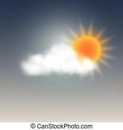 időjárás, napos, felhő