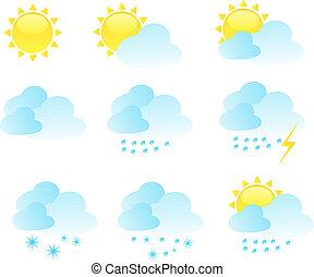 időjárás, vektor, állhatatos, ikon