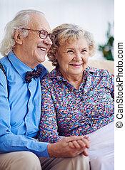 idős, férj, feleség