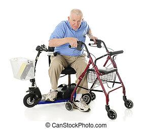 idősebb ember, átutalás