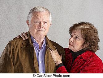 idősebb ember, érintett, párosít